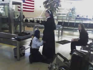 Transportation Security Administration (TSA) & a nun