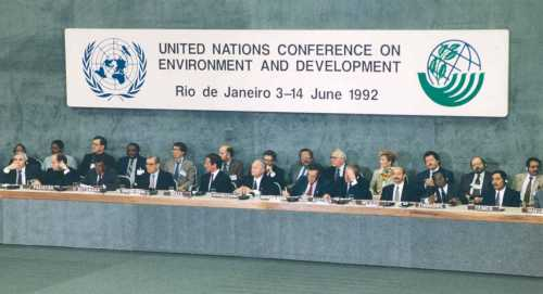 rio earth summit Earth summit (1992)introductionin june 1992 representatives from 172 nations  convened in rio de janeiro, brazil, for the united nations conference on.