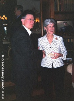 "Kathleen Sebelius with her blood-money benefactor, late-term abortionist, Charles ""Killer"" Tiller"
