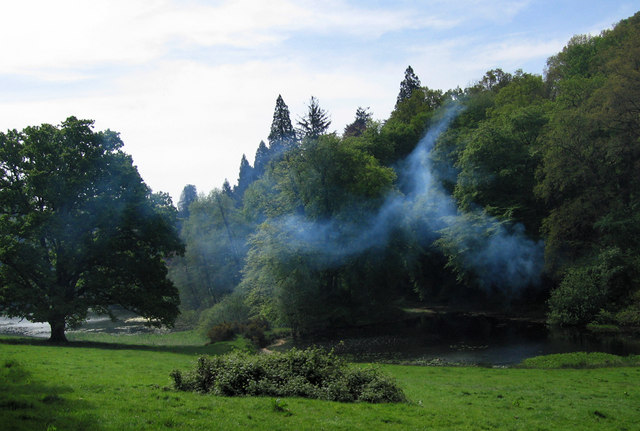 Photo: Wood Smoke at Six Wells Bottom, Geographic.org.uk