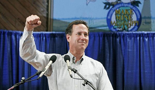 Santorum in Jackson, Mississippi, photo: Rogelio V. Solis, AP