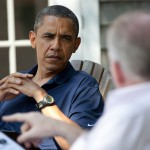 Obama and Brennan, Chilmark, MA, Aug. 19, 2011