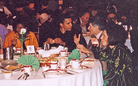 The Obamas seated with Palestinian Liberation Organization Leader Edward Said at Khalidi Muslim fundraiser, per RadioPatriot.com