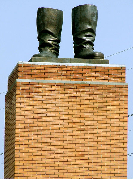 Stalin's Boots, a statue in Hungary