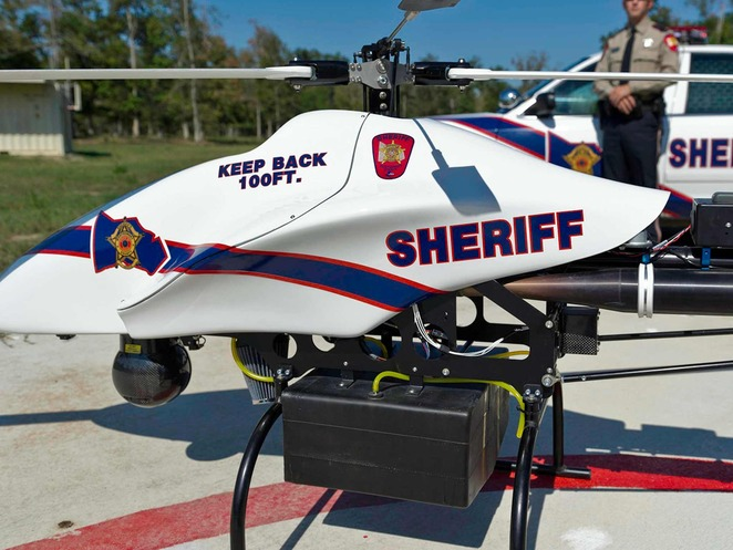 Texas police unveil remote control assault helicopter drone to fight crime