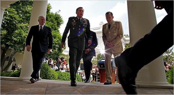Gates, Petraeus, McChrystal (Doug Mills / New York Times)