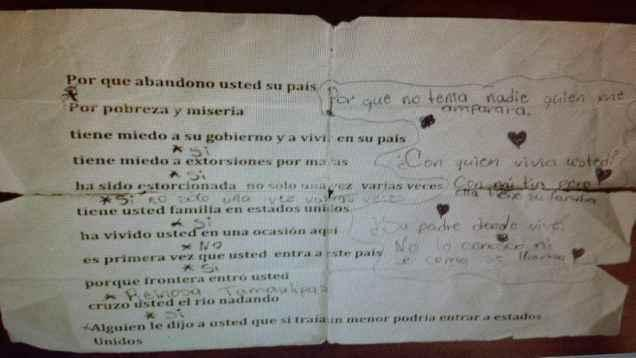 "A ""cheat sheet"" discovered near the U.S.-Mexico border  (photo obtained by TheBlaze)"