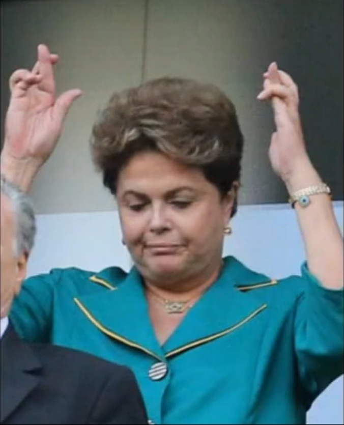 Dilma Rousseff at 2014 World Cup futbol games