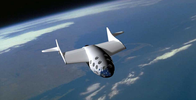 Depiction Burt Rutan's Space Ship One, the first private space ship in human history