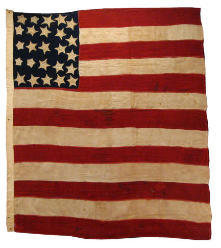 One of the earliest Stars and Stripes