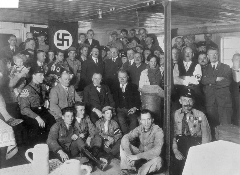 Adolf Hitler with German Workers Party / National Socialist German Workers Party (NAZI) members