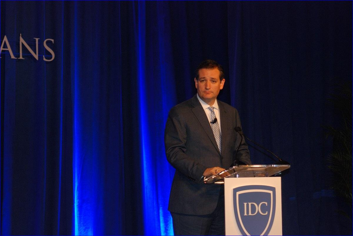 Senator Ted Cruz speaking at the In Defense of Christians Inaugural Summit Gala Dinner