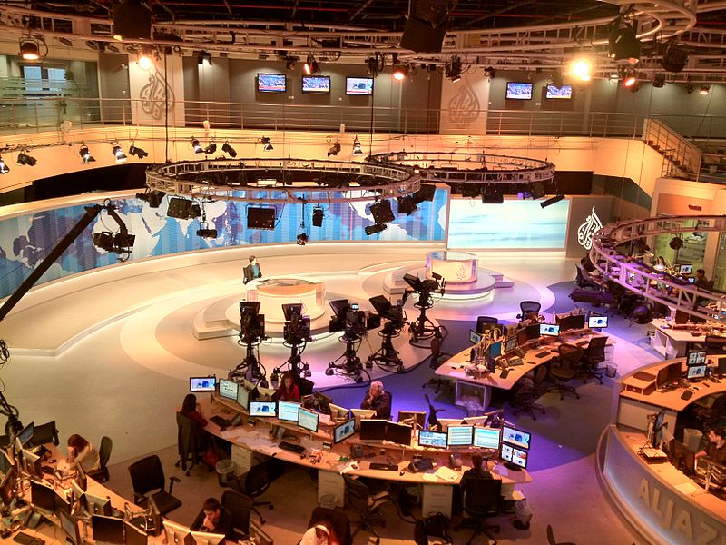 Newsdesk, Al Jazeera, headquartered in Dohar, Qatar