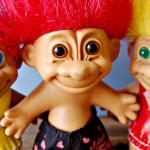 "These things, though they are called ""troll dolls"" or ""good luck trolls,""were at once called ""Dam Things,"" having been invented by a Dane named Thomas Dam"