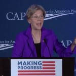 Elizabeth Warren speaks at the progressive Center for American Progress