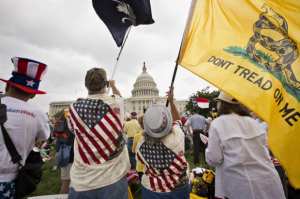 In this June 19, 2013, photo, Tea Party activists attend a rally on the grounds of the Capitol in Washington, Wednesday, June 19, 2013. (Photo: AP)
