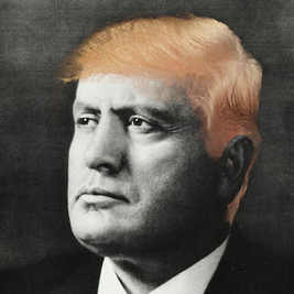 Profile pic of twitter account @ilduce2016, whose Mussolini quote Donald Trump retweeted
